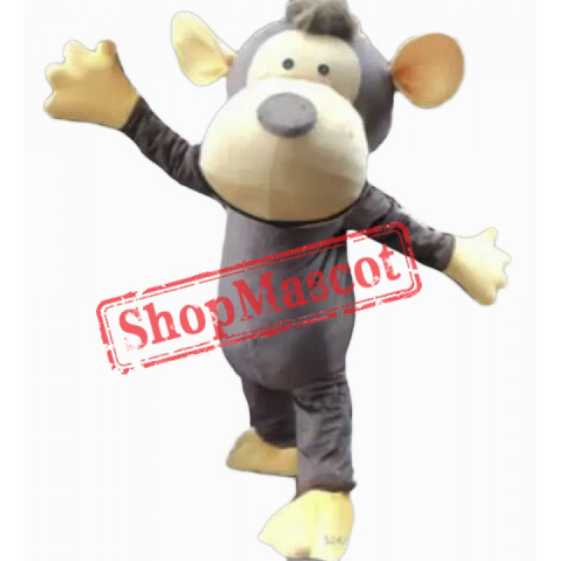 Lovely Gray Monkey Mascot Costume