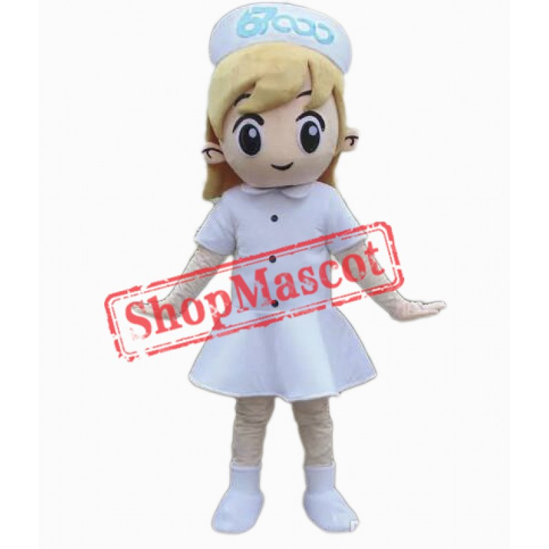Pretty Girl Nurse Mascot Costume