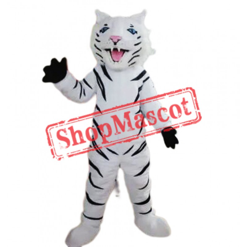 Fierce White Tiger Mascot Costume