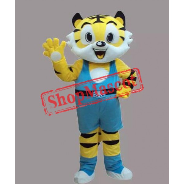 New Style Yellow Tiger Mascot Costume