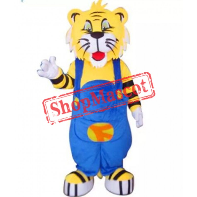 Cute Cartoon Tiger Mascot Costume