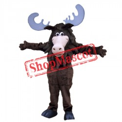Smiling Moose Mascot Costume