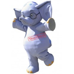 Happy Lightweight Elephant Mascot Costume