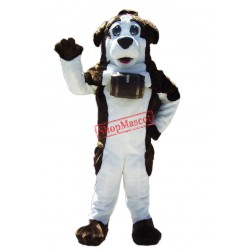 Friendly Saint Bernard Dog Mascot Costume