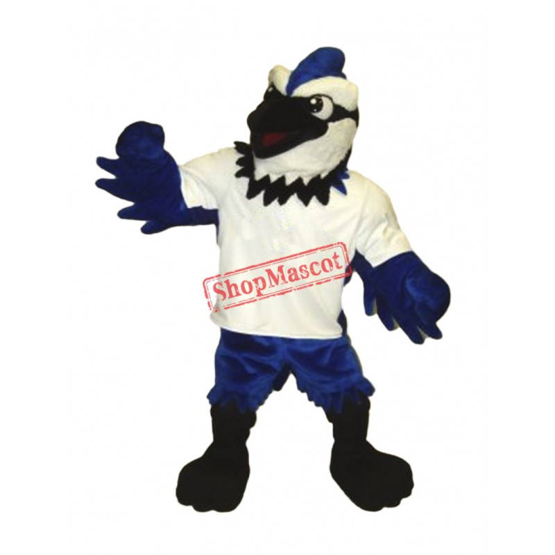 Fierce Lightweight Blue Jay Mascot Costume