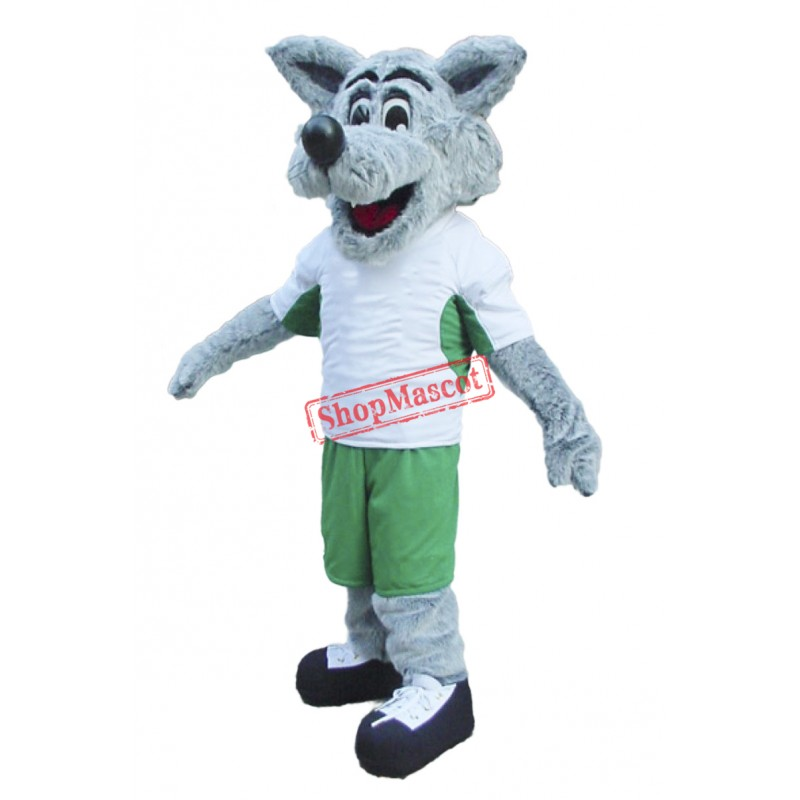 Happy Lightweight Wolf Mascot Costume