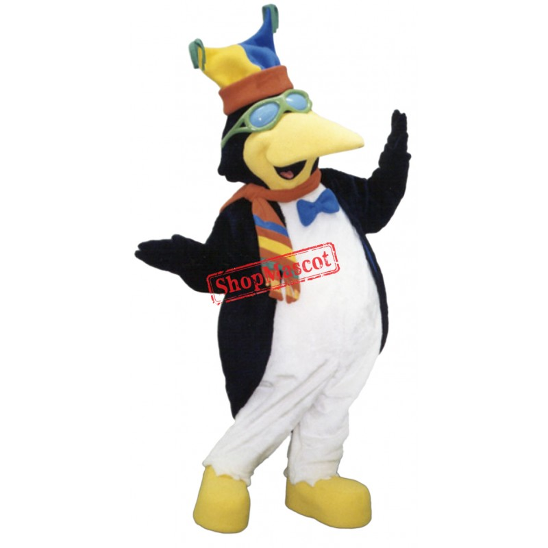 Friendly Christmas Penguin Mascot Costume