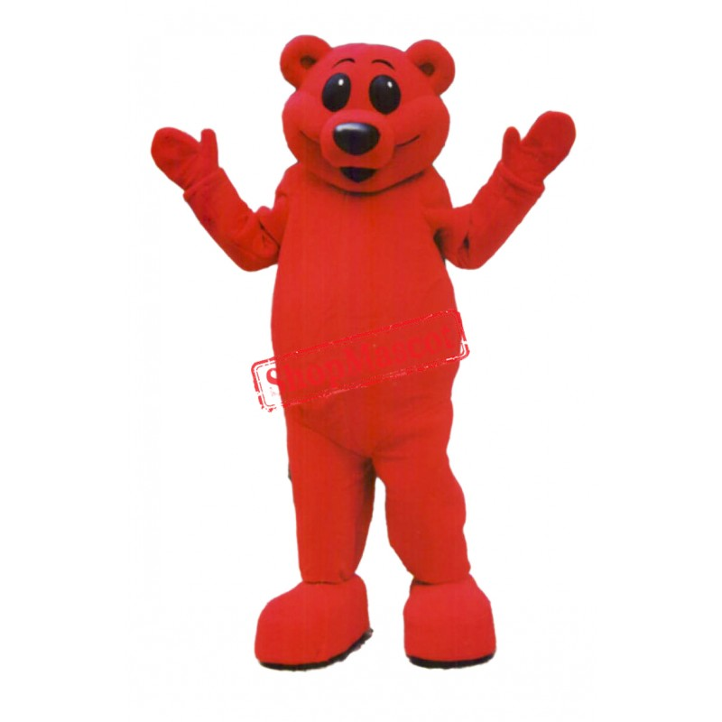 Red Lightweight Bear Mascot Costume