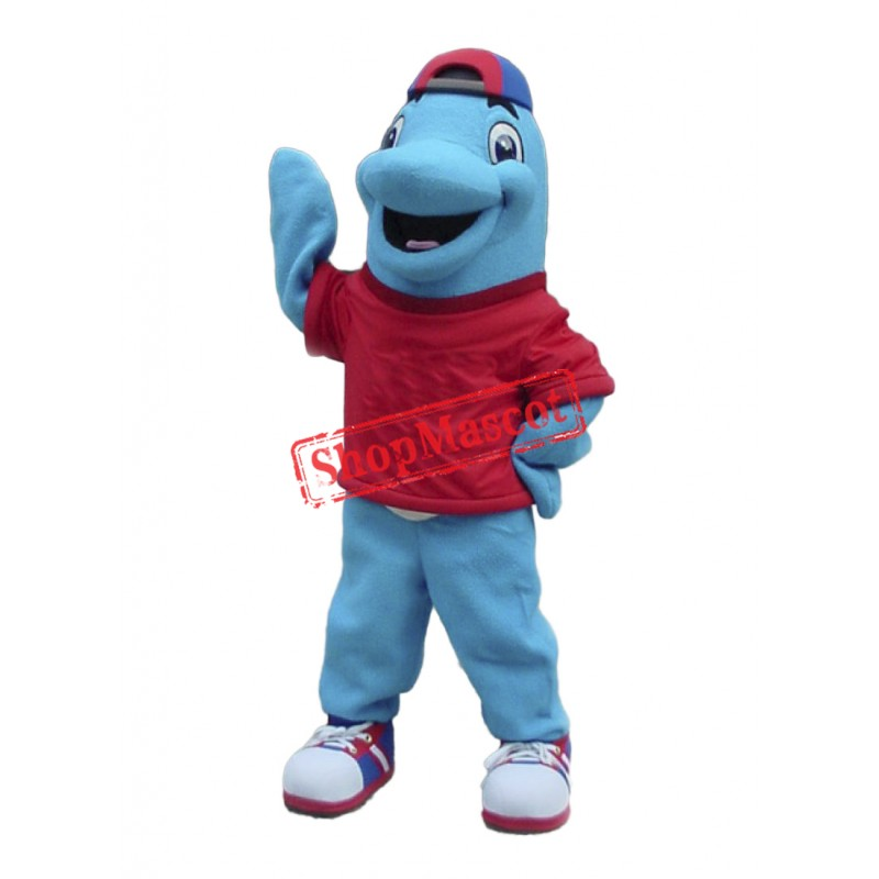 Happy Lightweight Dolphin Mascot Costume