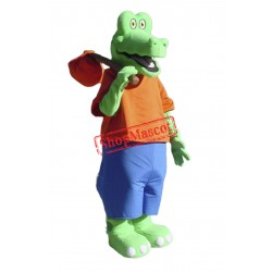 Cute Lightweight Alligator Mascot Costume Free Shipping