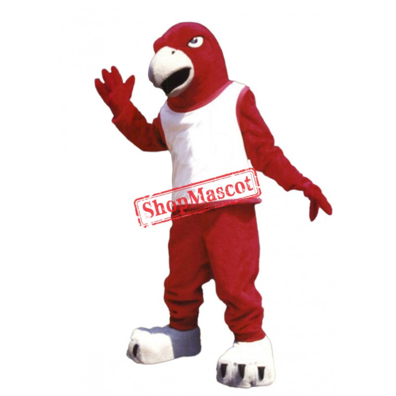 Fierce Red Falcon Mascot Costume