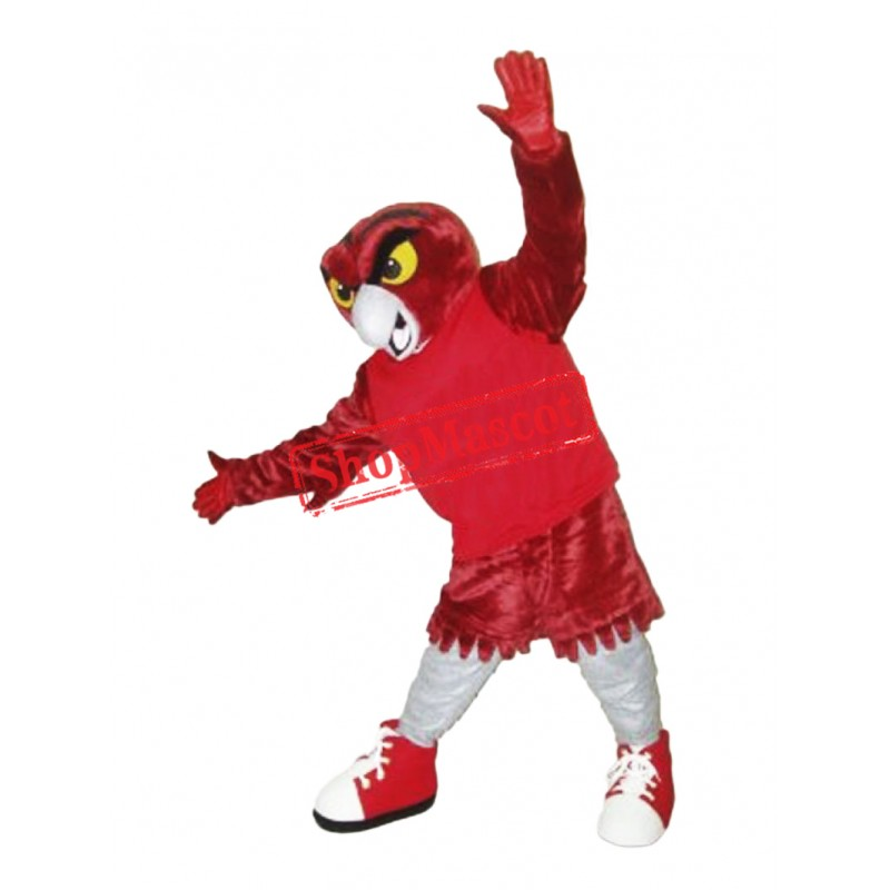 College Red Owl Mascot Costume
