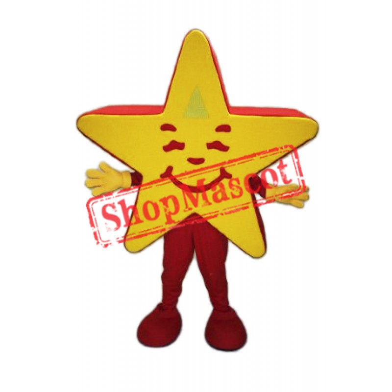Smiling Lightweight Star Mascot Costume