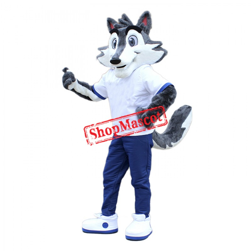 Friendly Lightweight Wolf Mascot Costume