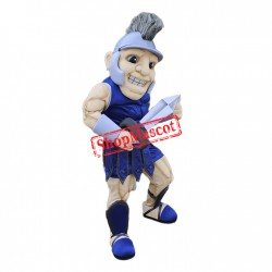 Power Blue Spartan Mascot Costume
