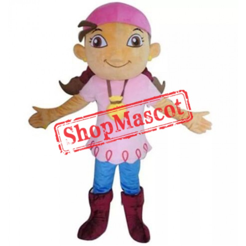 Pirate Izzy Mascot Costume