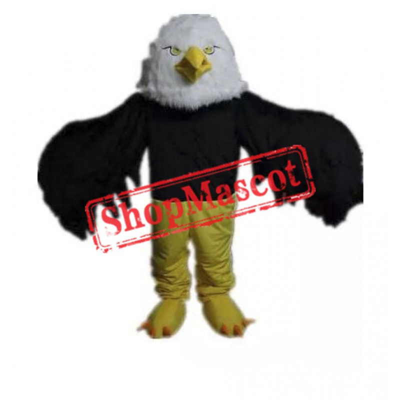 High Quality Black Eagle Mascot Costume