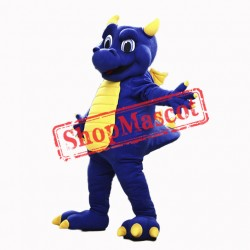 Top Quality Blue Dragon Mascot Costume