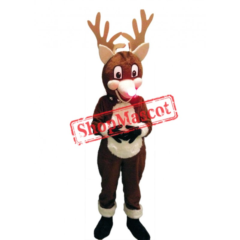 High Quality Christmas Reindeer Mascot Costume