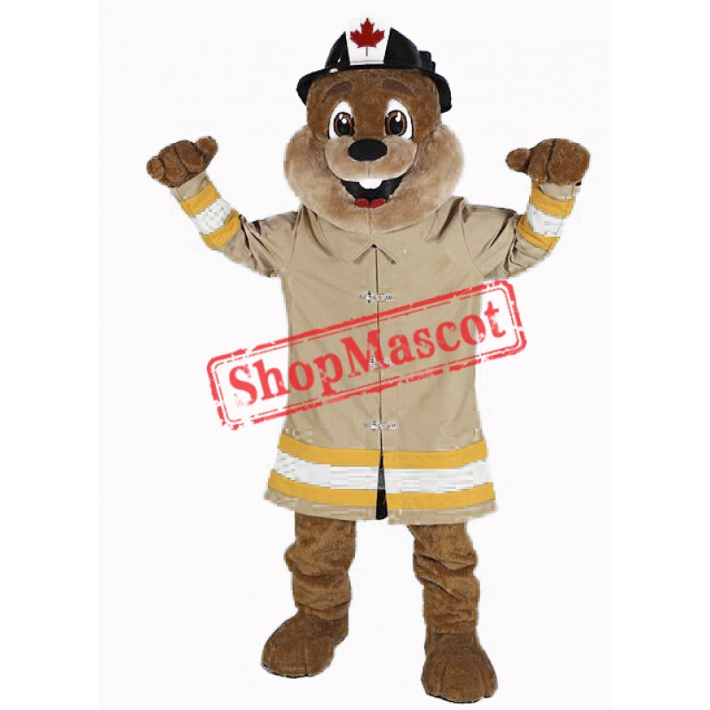 Fire Protection Beaver Mascot Costume