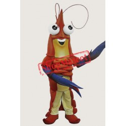 Happy Lightweight Prawn Mascot Costume