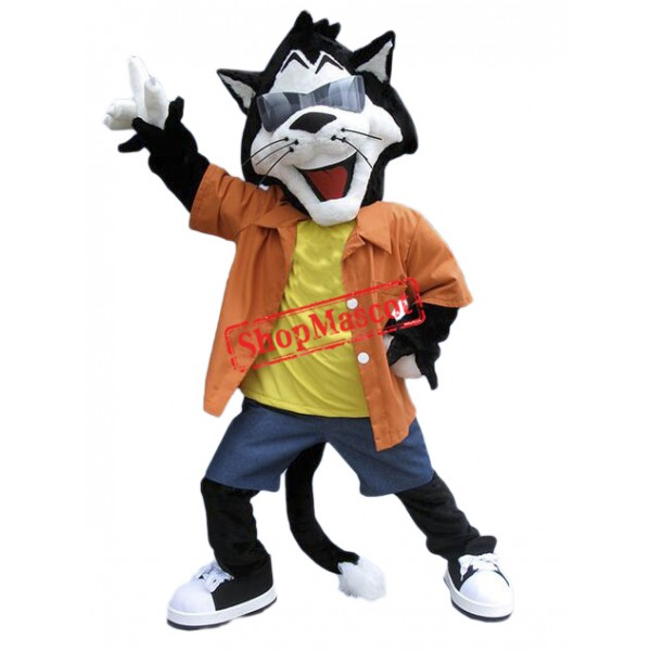 Happy Lightweight Cat Mascot Costume