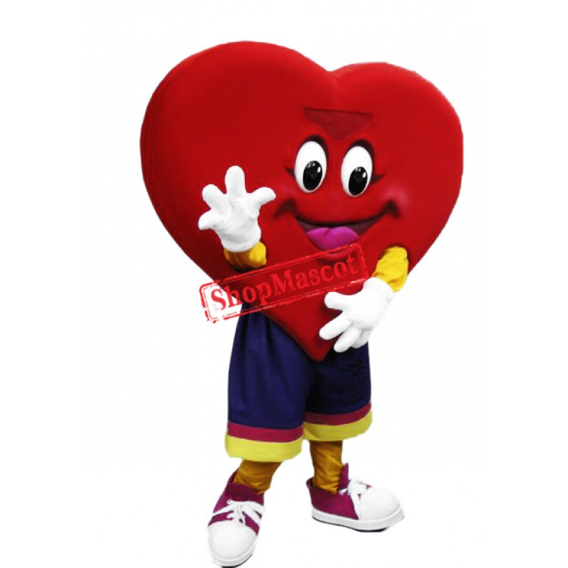 Happy Lightweight Heart Mascot Costume