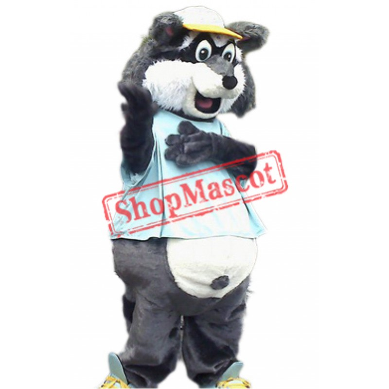 Happy Lightweight Raccoon Mascot Costume
