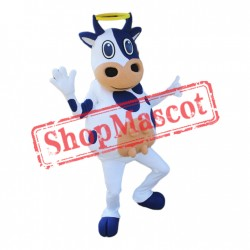 Friendly Lightweight Cow Mascot Costume