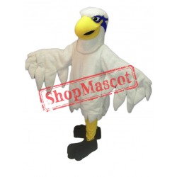 White Lightweight Hawk Mascot Costume