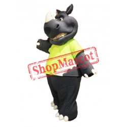 Happy Lightweight Rhino Mascot Costume