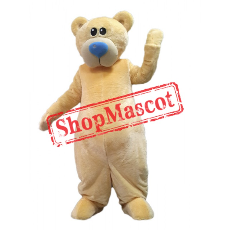 Cute Yellow Lightweight Bear Mascot Costume
