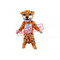 Friendly Lightweight Leopard Mascot Costume