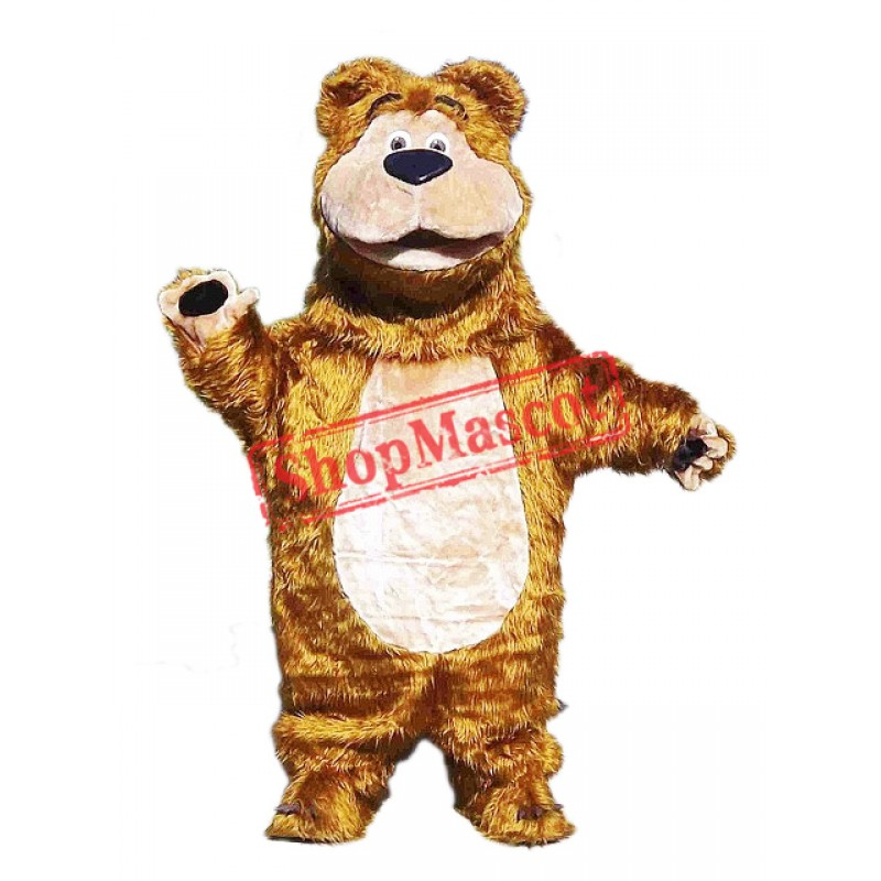 Cute Furry Bear Mascot Costume