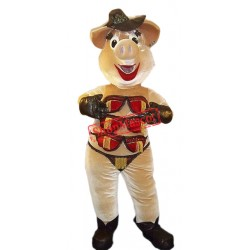 Stripper Pig Mascot Costume