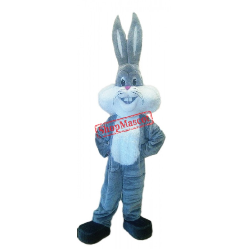Grey Lightweight Rabbit Mascot Costume