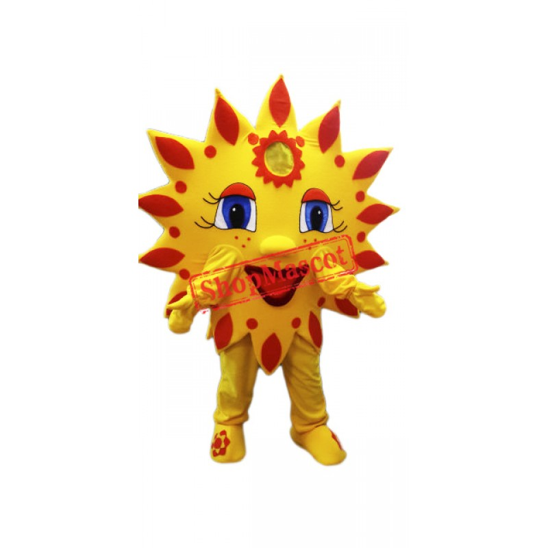 High Quality Sun Mascot Costume