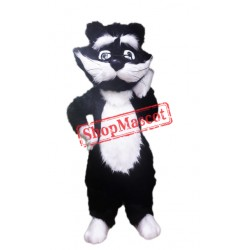 White & Black Animal Cat Mascot Costume