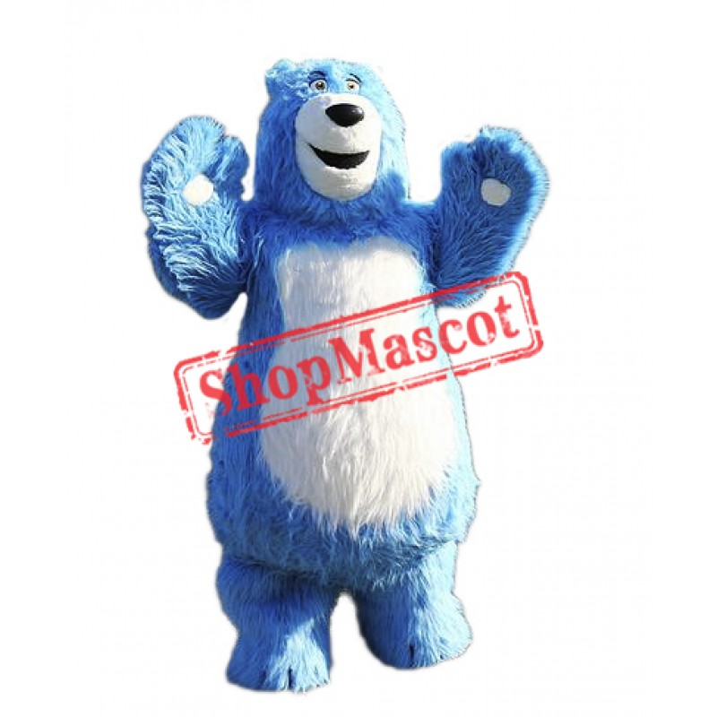Blue Bear Mascot Costume Free Shipping