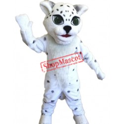 Happy Lightweight Snow Leopard Mascot Costume