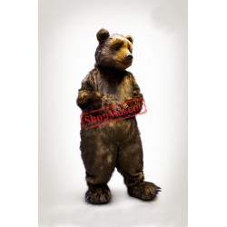 Top Quality Brown Bear Mascot Costume