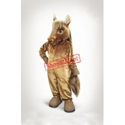 Lovely Brown Horse Mascot Costume