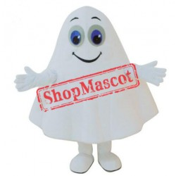 White Ghost Mascot Costume