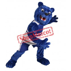 Fierce Blue Bear Mascot Costume