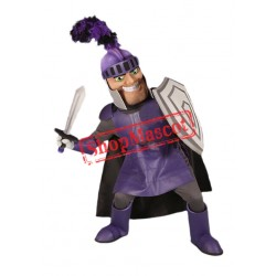 Purple Knight Mascot Costume