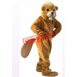 Friendly Lightweight Beaver Mascot Costume