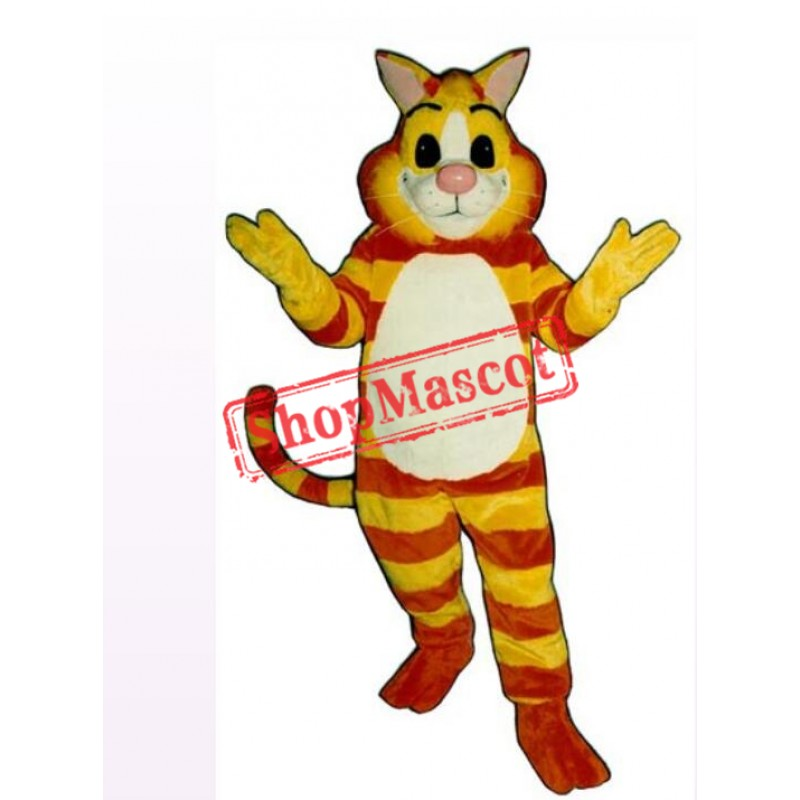 Friendly Cheshire Cat Mascot Costume