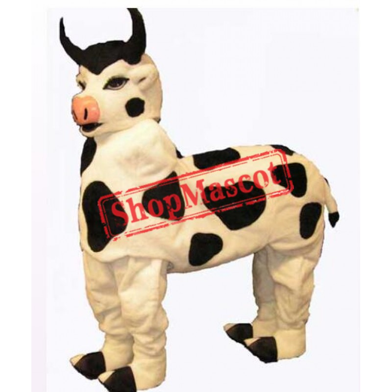 High Quality Two Person Cow Mascot Costume