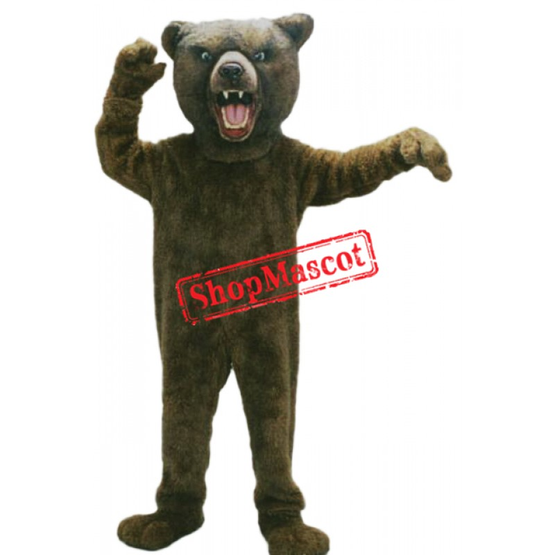 Fierce Animal Grizzly Bear Mascot Costume