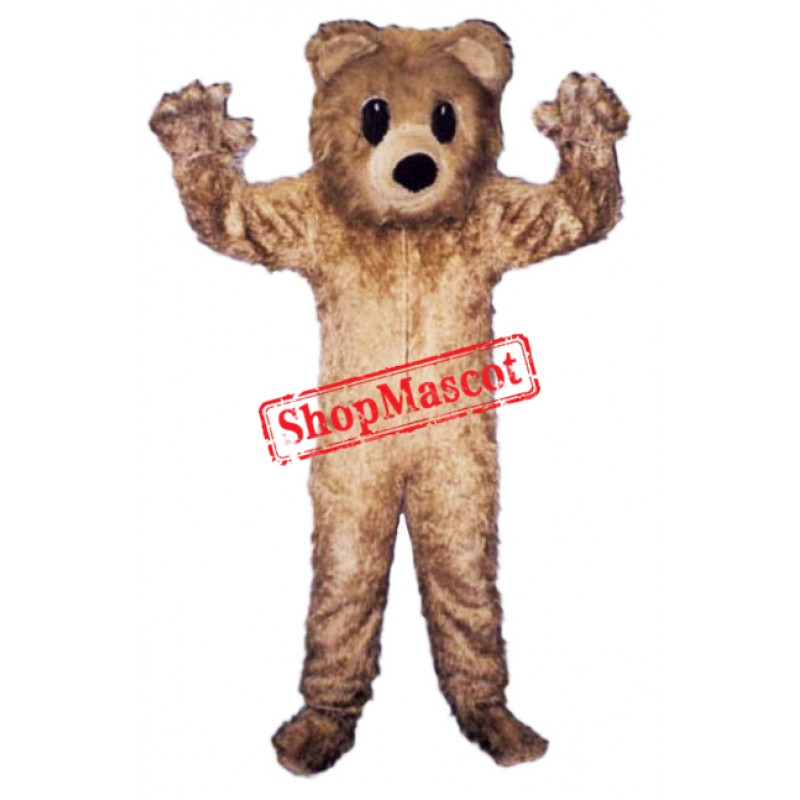 Friendly Furry Bear Mascot Costume